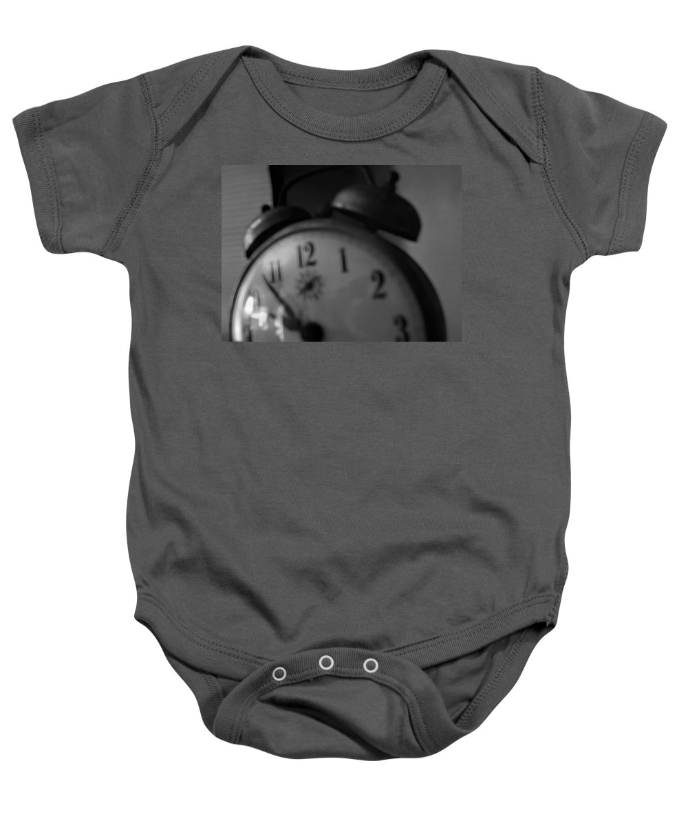 Baby Onesie featuring the digital art Clock 5 by Cathy Anderson