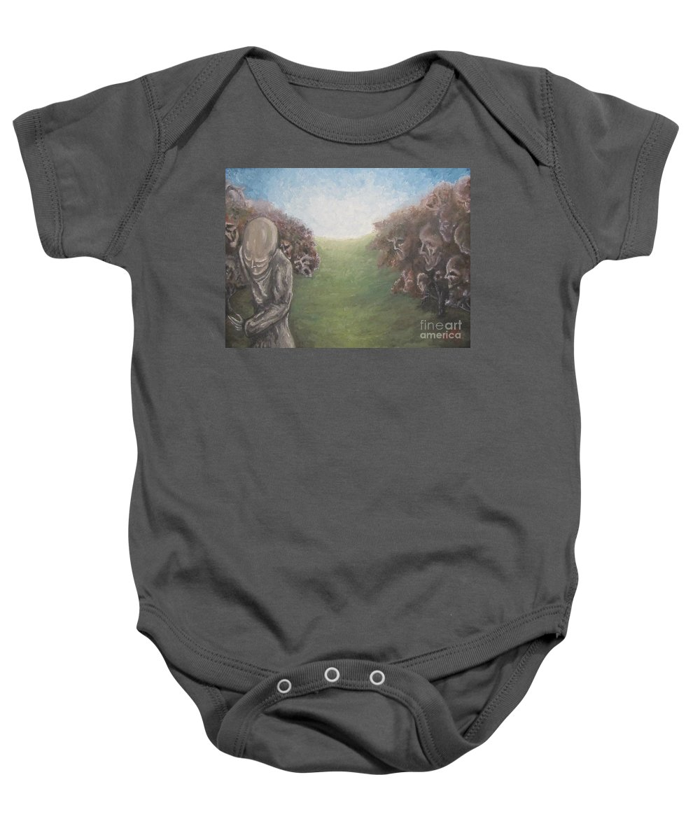 Tmad Baby Onesie featuring the painting Closure by Michael TMAD Finney