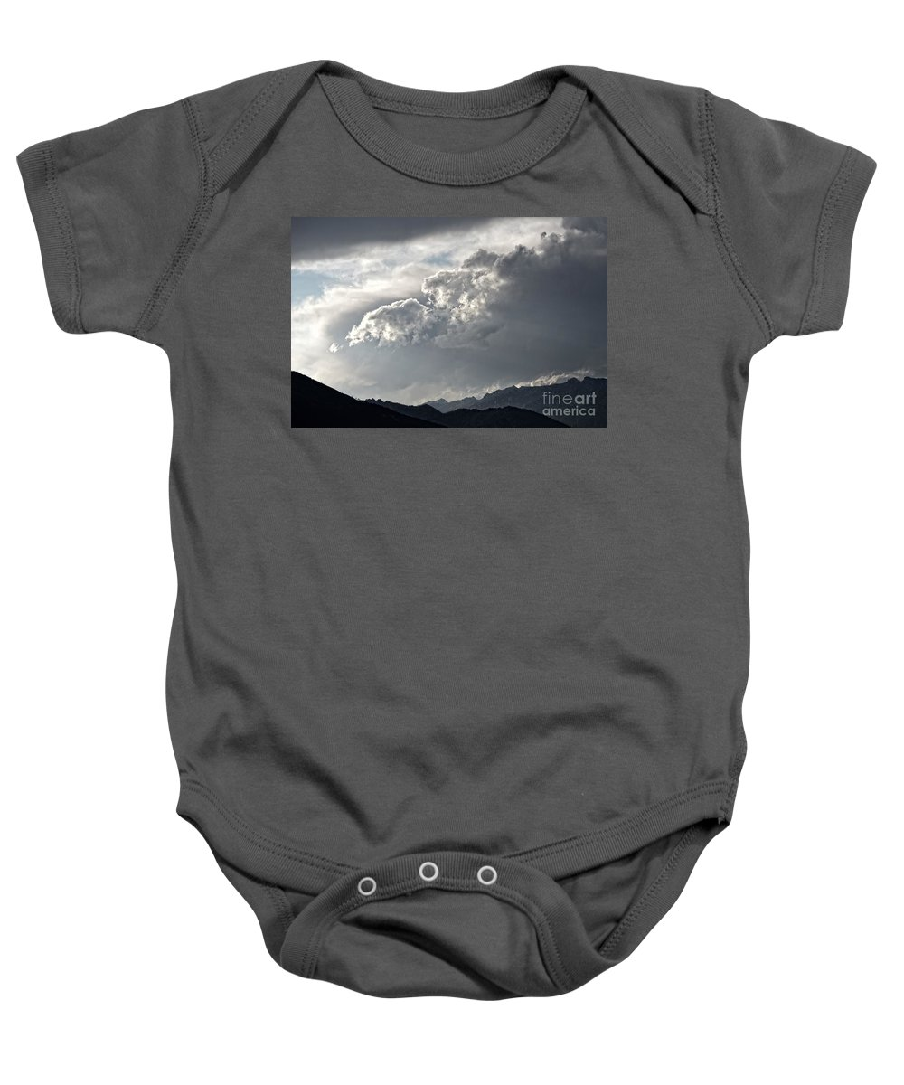 Sky Art Baby Onesie featuring the photograph Cloud Over Goat Mountain by Joseph J Stevens