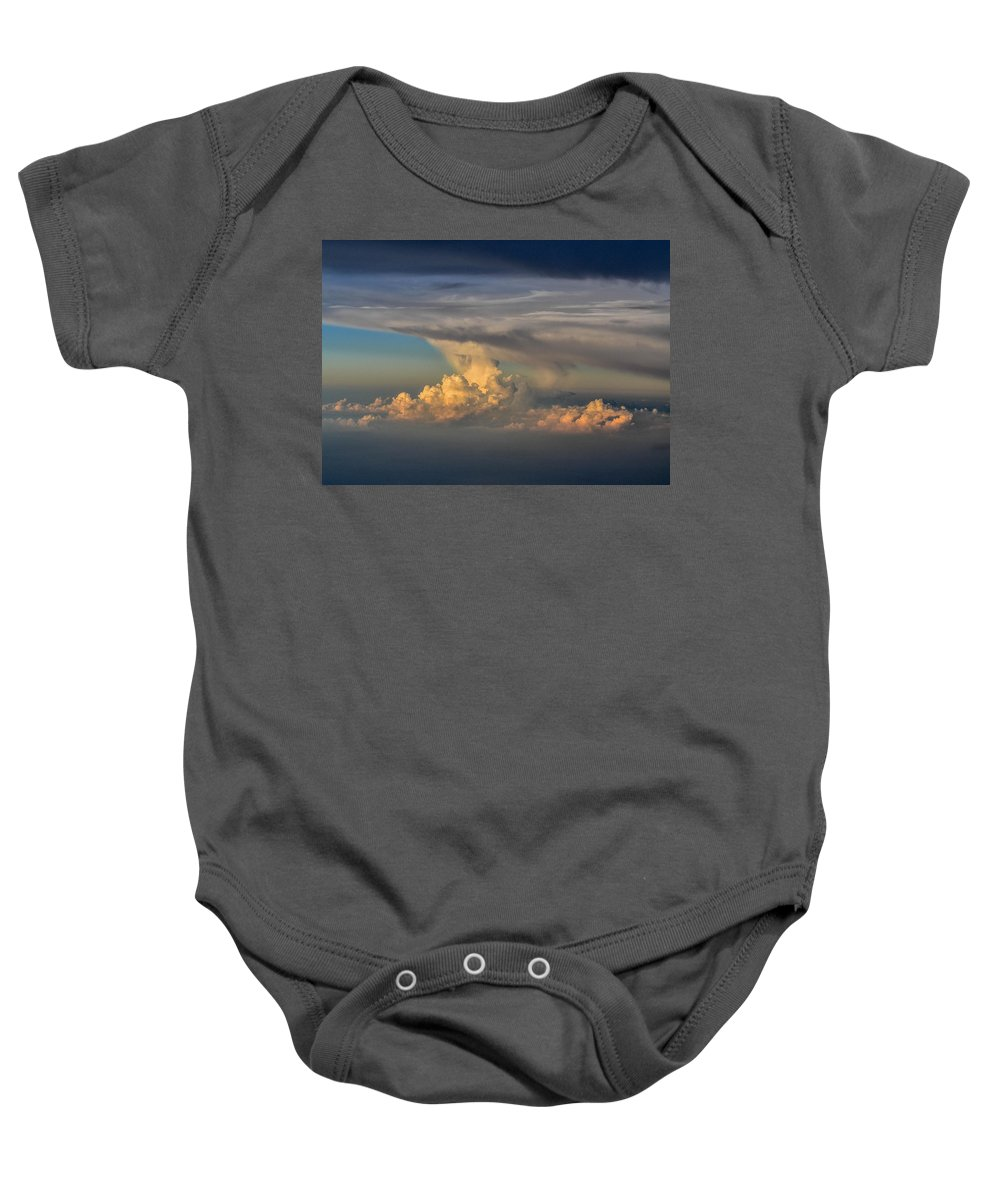 Clouds Baby Onesie featuring the photograph Clouds Above The Clouds by Wanda J King