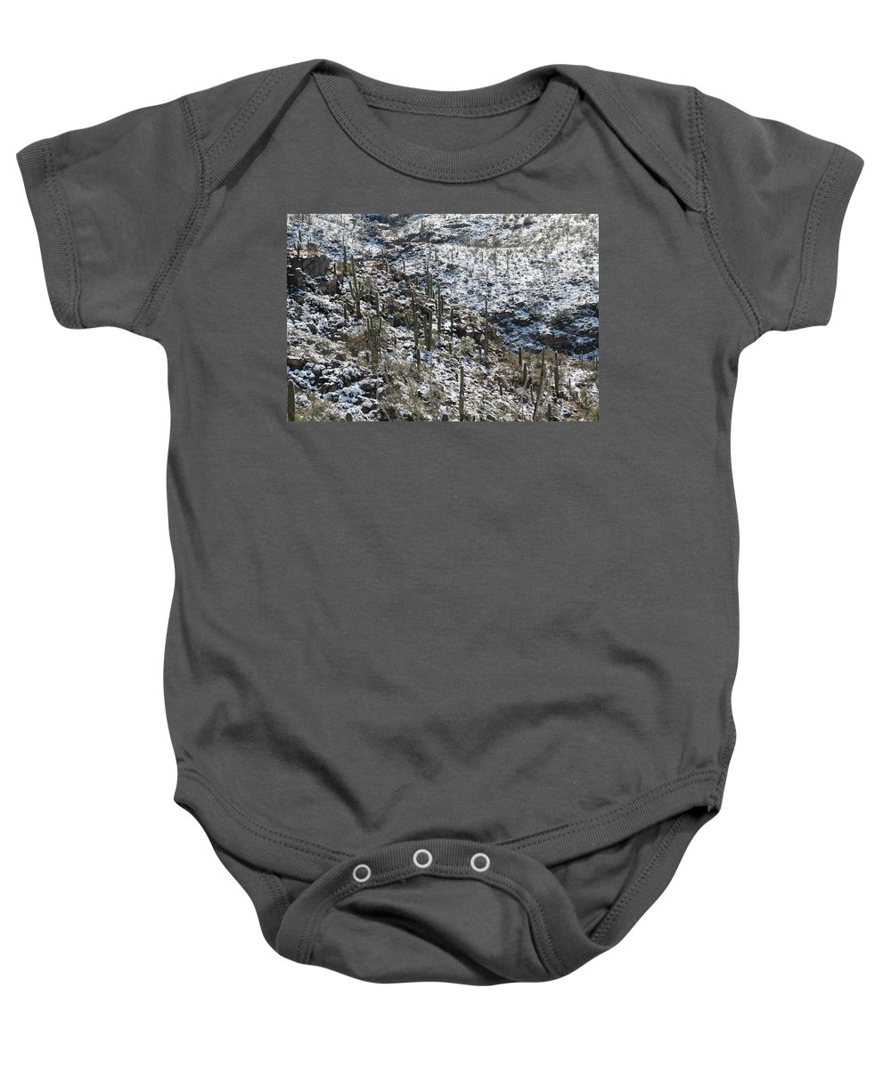 David S Reynolds Baby Onesie featuring the photograph Cold Day In Hell by David S Reynolds