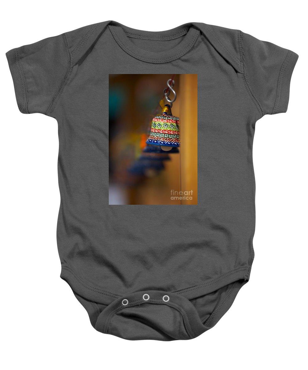 Blaminsky Baby Onesie featuring the photograph Colorful Clay Bells by Jaroslaw Blaminsky
