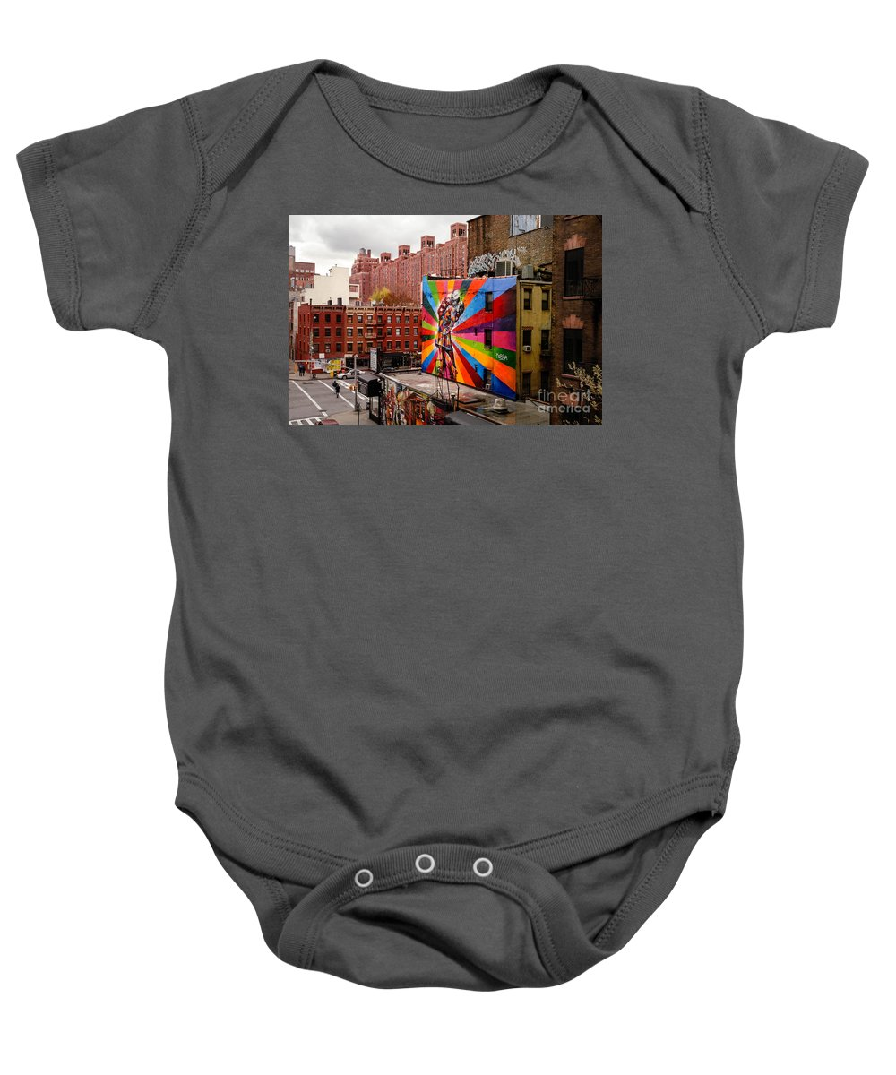 Alfred Eisenstaedt Baby Onesie featuring the photograph Colorful Mural Chelsea New York City by Amy Cicconi