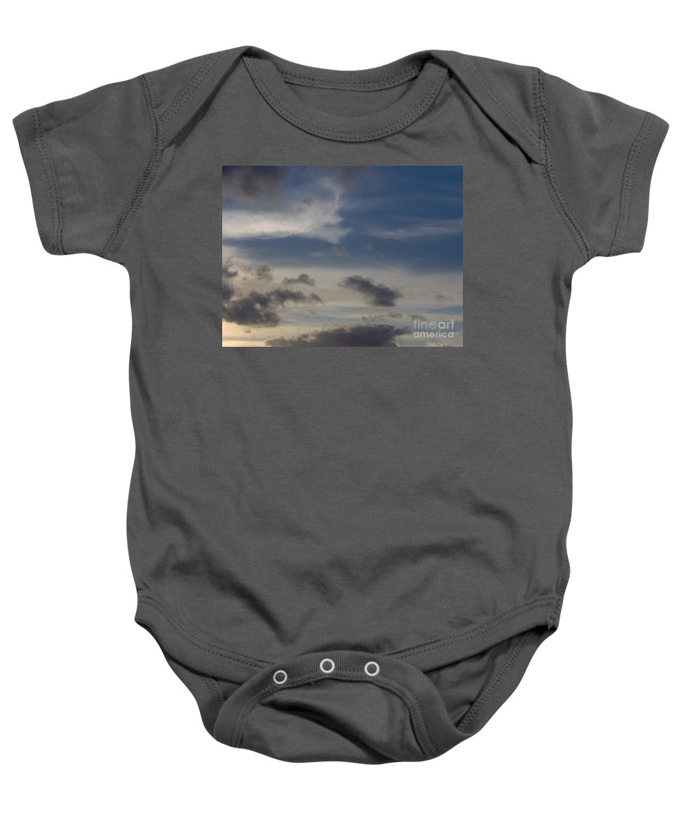 Clouds Baby Onesie featuring the photograph Colorful Sky by D Hackett