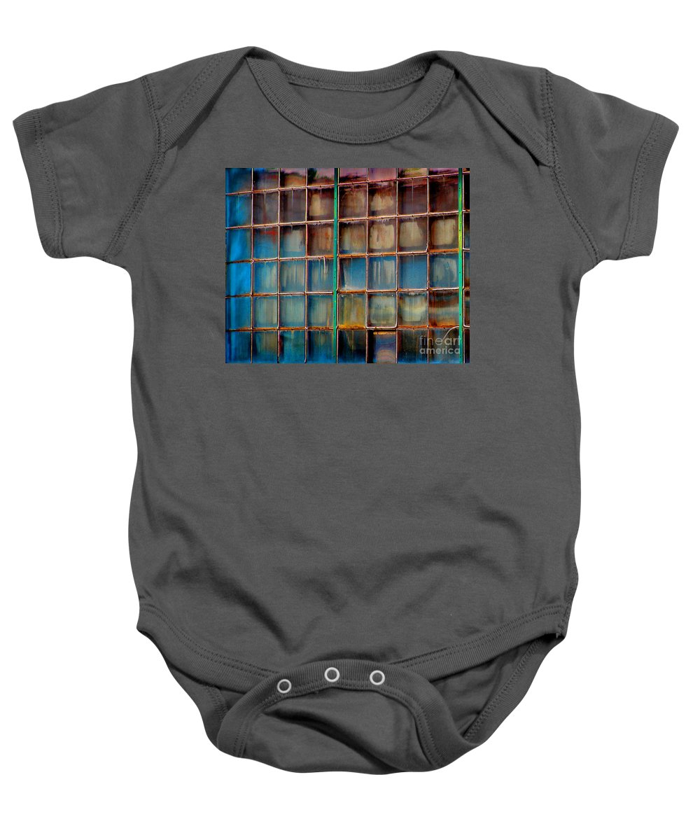 Building Baby Onesie featuring the photograph Colorful Windows by Karen Adams