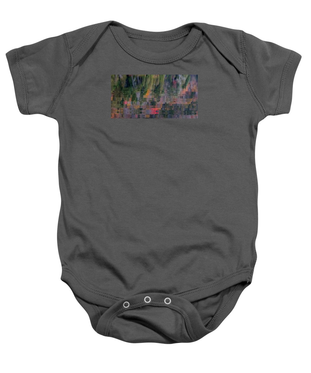 Reflection Baby Onesie featuring the photograph Colors Of Fall by Jean Macaluso