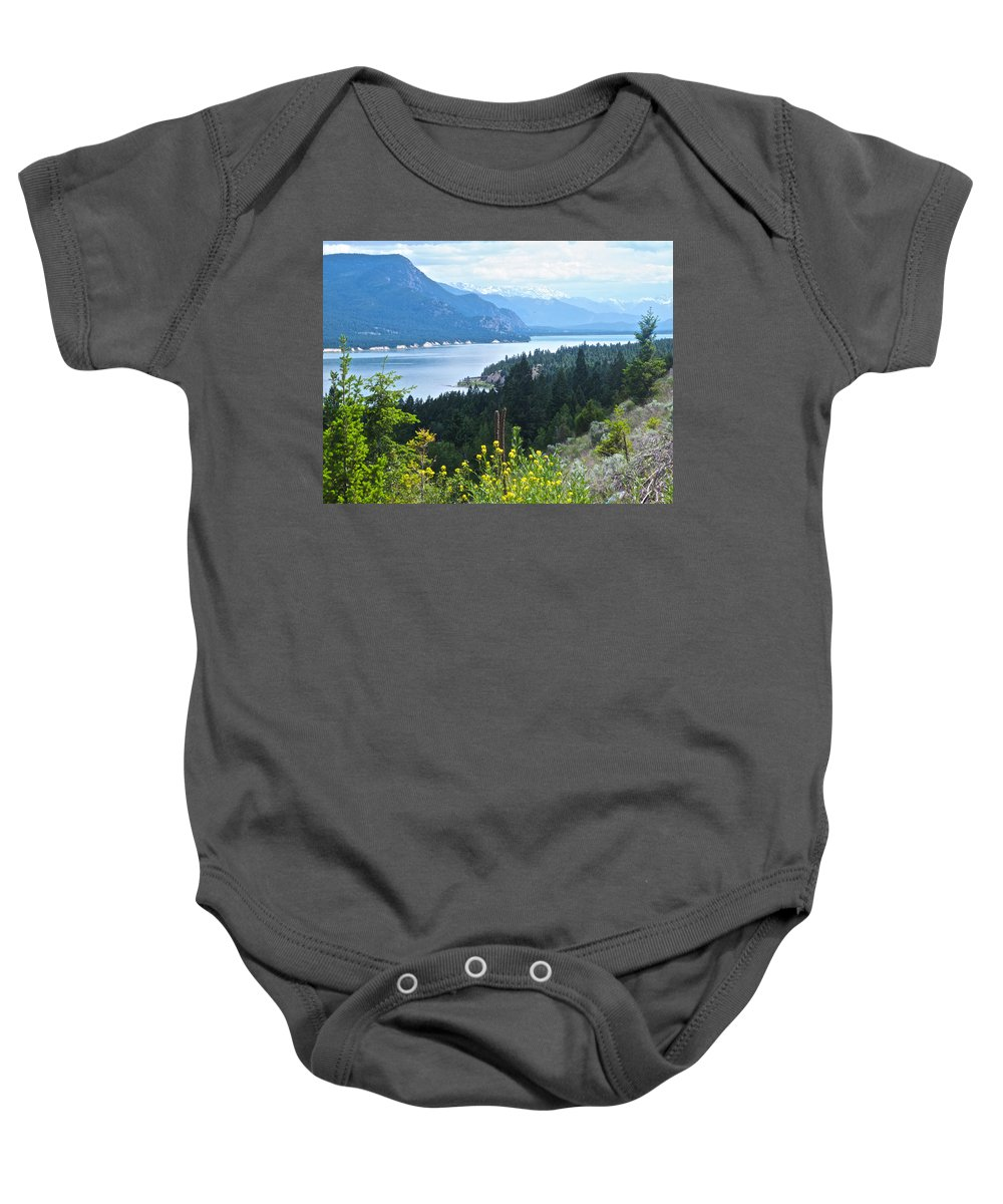 Columbia Lake Baby Onesie featuring the photograph Columbia Lake Which Is Source Of The Columbia River-bc by Ruth Hager