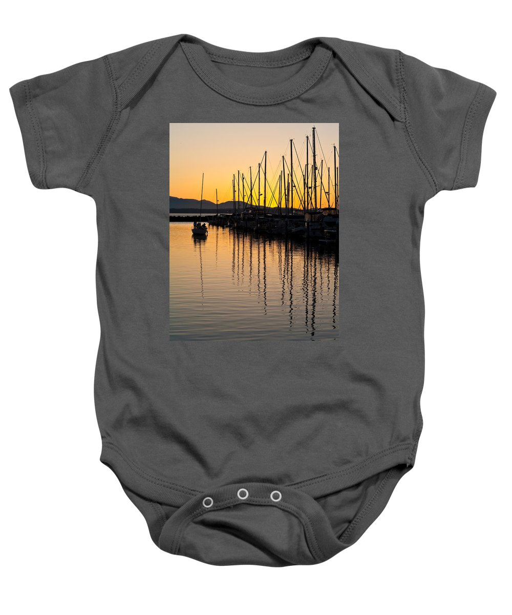 Sailboat Baby Onesie featuring the photograph Coming In by Mike Reid