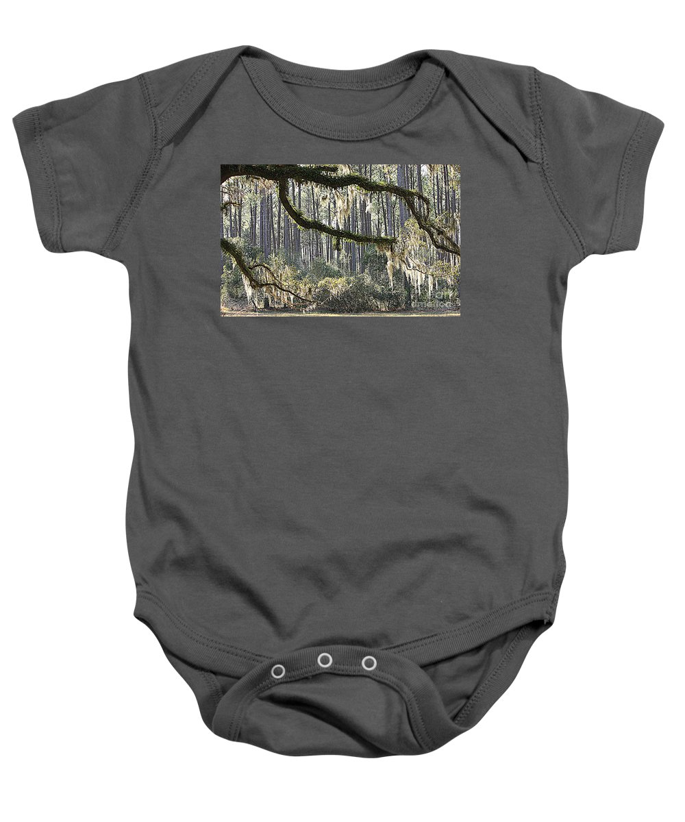 Live Oak Baby Onesie featuring the photograph Companions by Carol Groenen