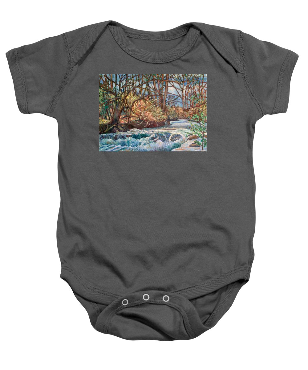 Connellys Run Baby Onesie featuring the painting Connellys Run by Kendall Kessler