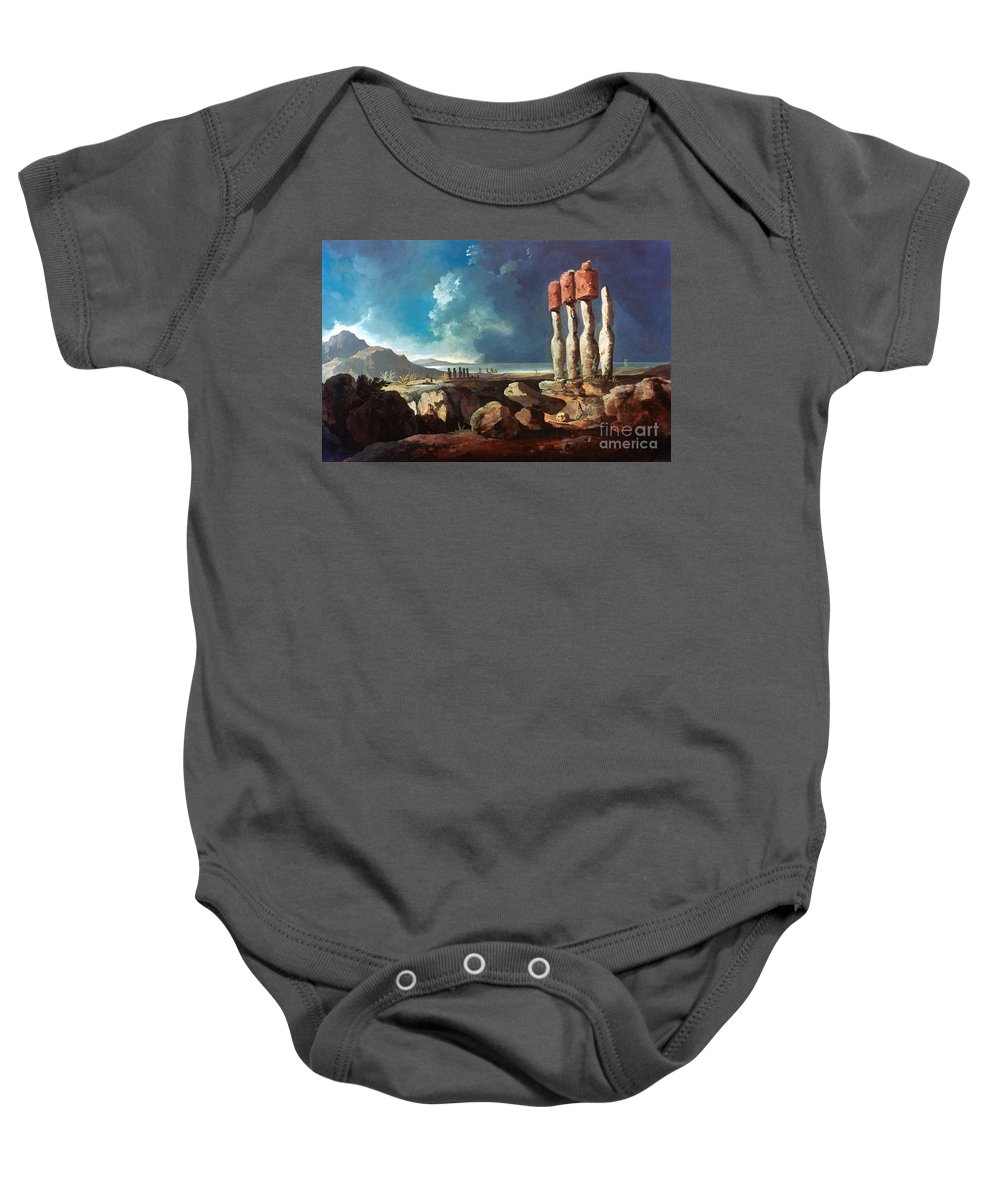 1774 Baby Onesie featuring the photograph Cook: Easter Island, 1774 by Granger