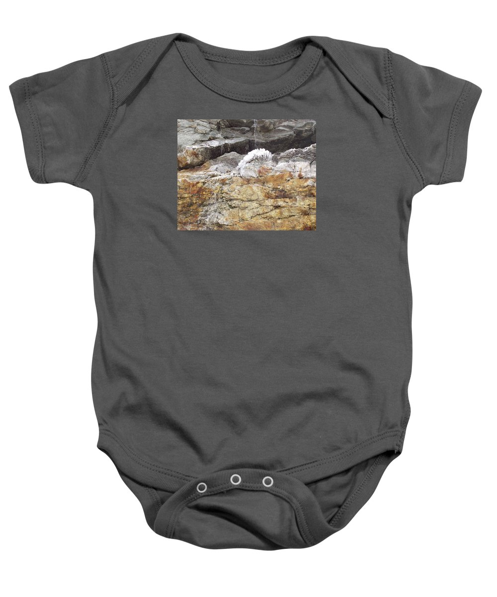 Ice Baby Onesie featuring the photograph Cool Ice Form by Mike and Sharon Mathews