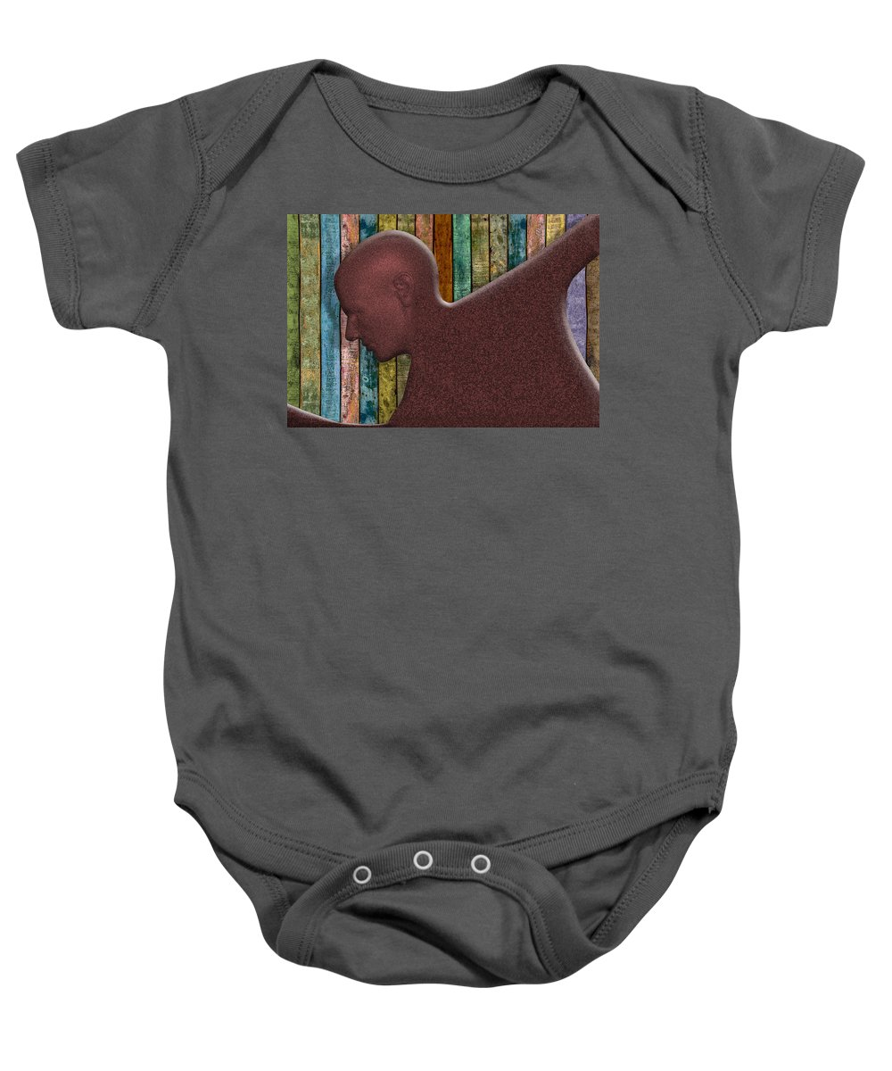 Photography Baby Onesie featuring the photograph Copper Man by Paul Wear