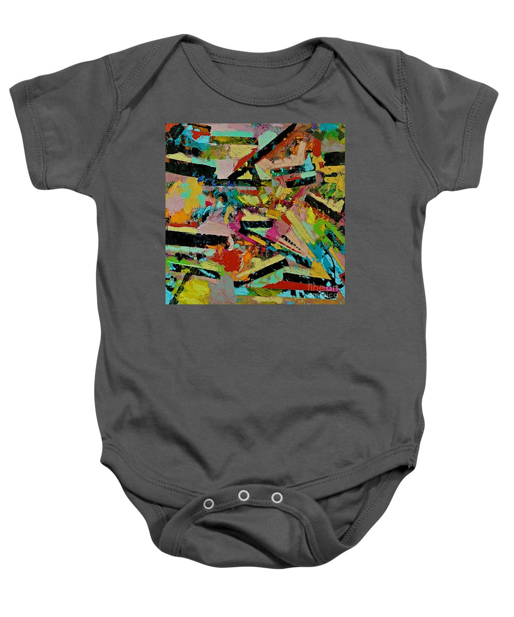 Landscape Baby Onesie featuring the painting Cotton Crystal by Allan P Friedlander