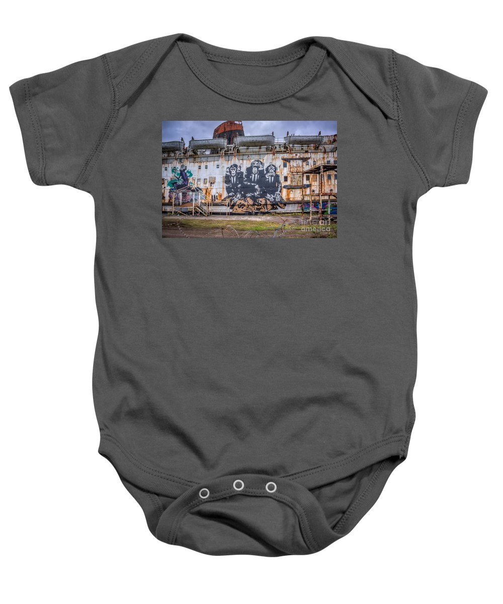 Abandoned Baby Onesie featuring the photograph Council Of Monkeys by Adrian Evans
