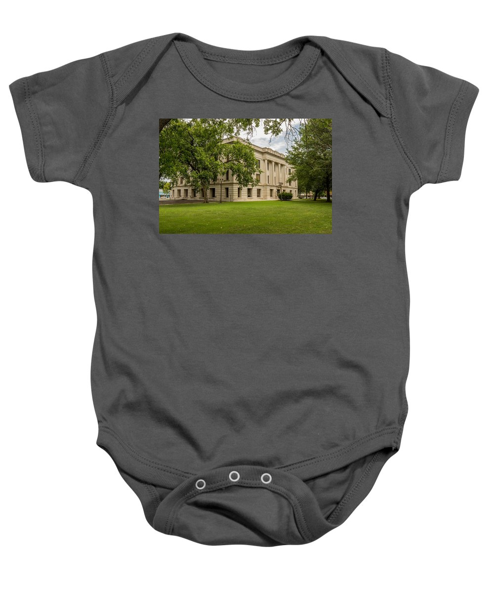 Court Baby Onesie featuring the photograph Crawford County Courthouse by Ken Kobe
