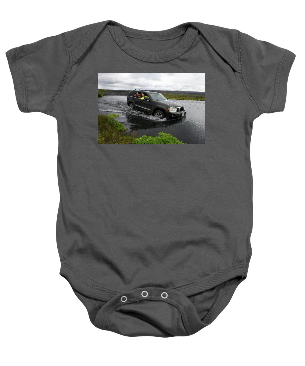 20-24 Years Baby Onesie featuring the photograph Crossing River by Chris Linder