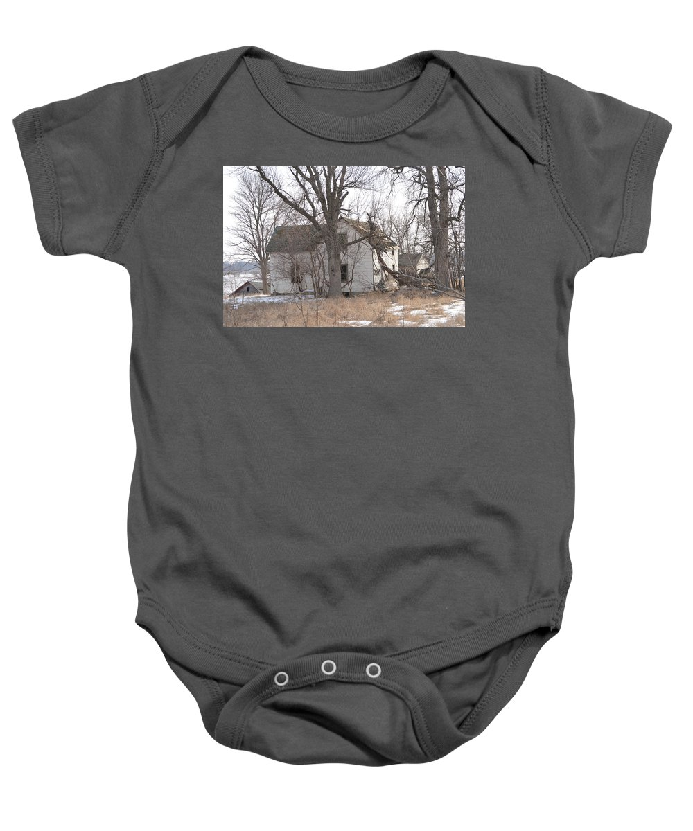 Tree Baby Onesie featuring the photograph Crushed by Bonfire Photography