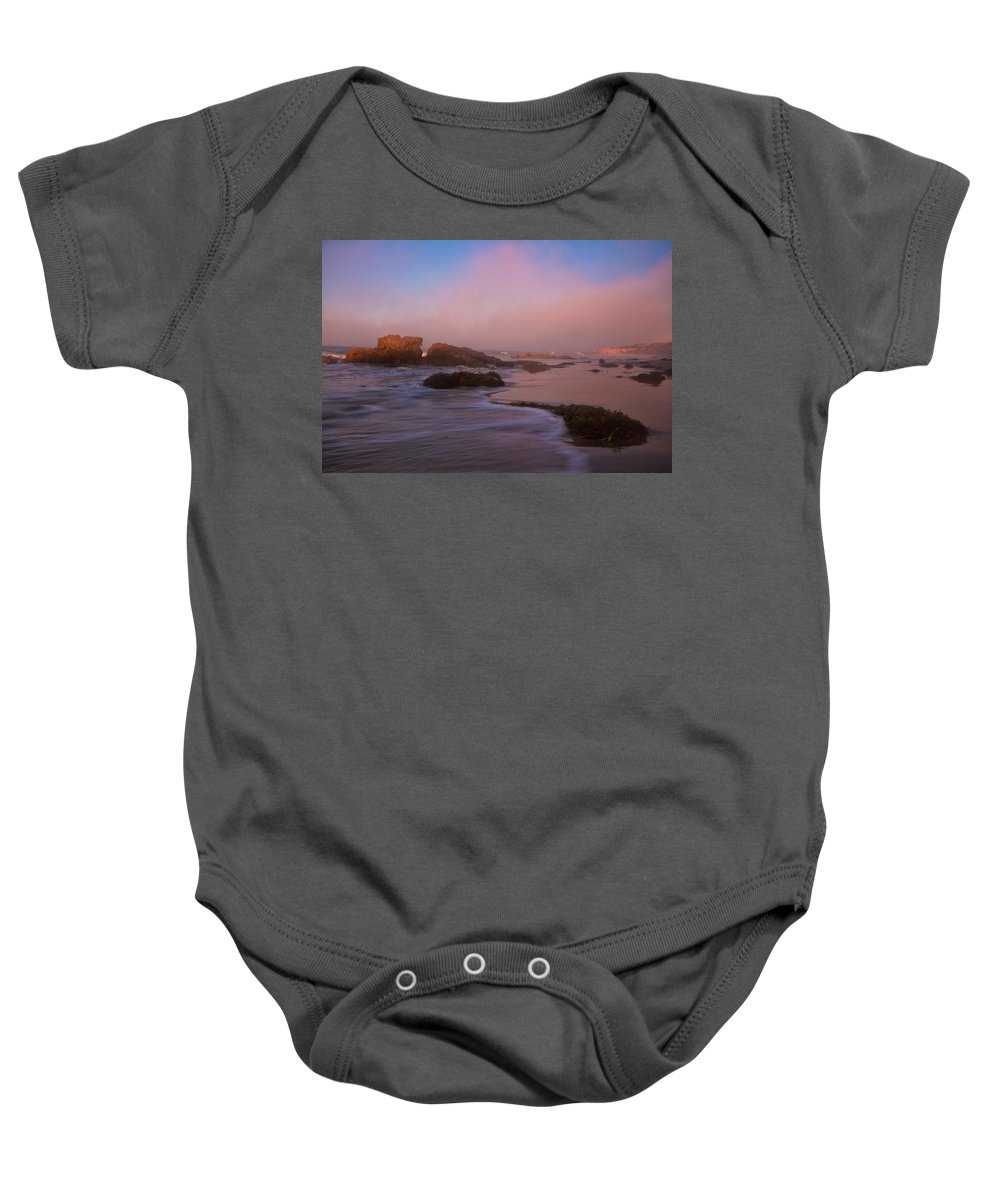 Crystal Cove State Park Baby Onesie featuring the photograph Crystal Cove State Park by Ronda Kimbrow