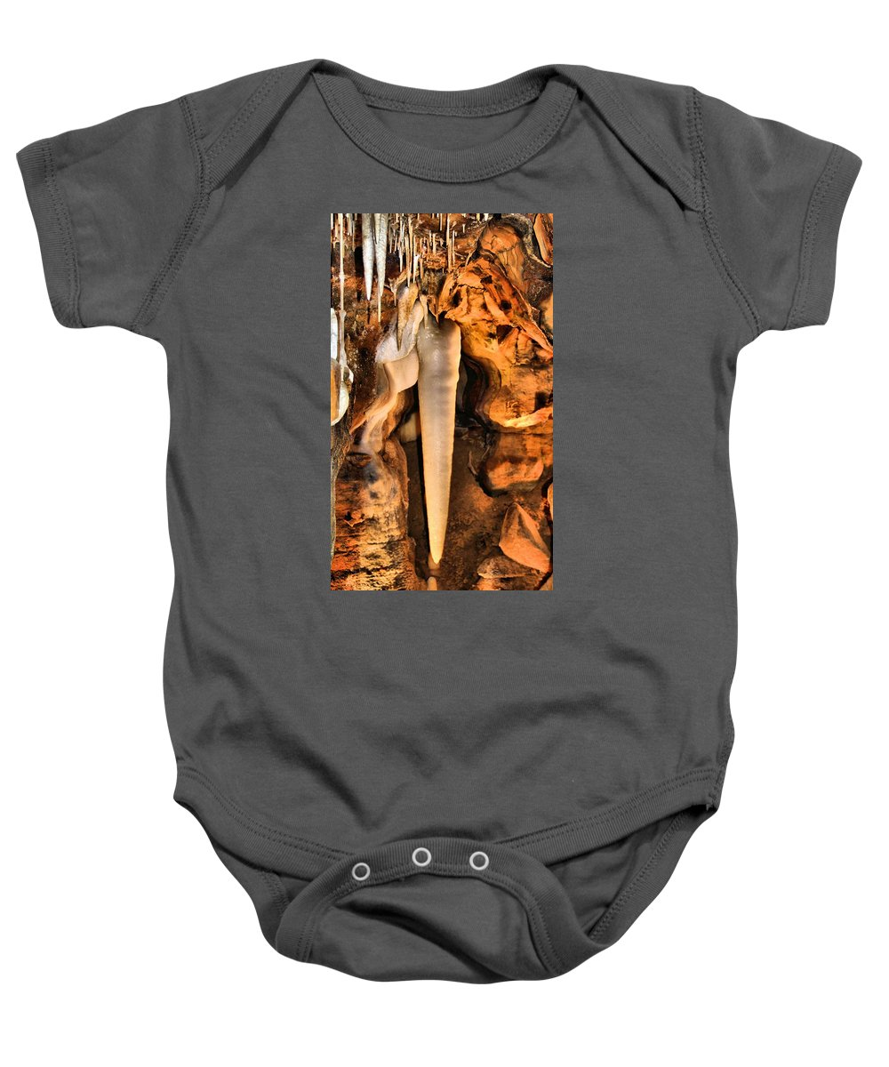 Caverns Baby Onesie featuring the photograph Crystal King by Dan Sproul