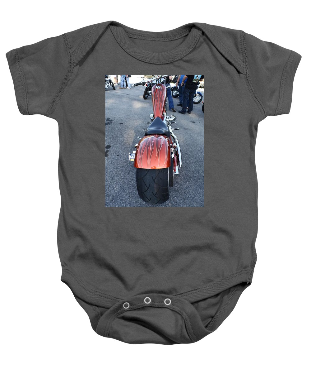 Cars Baby Onesie featuring the photograph Custom Bike by Karl Rose