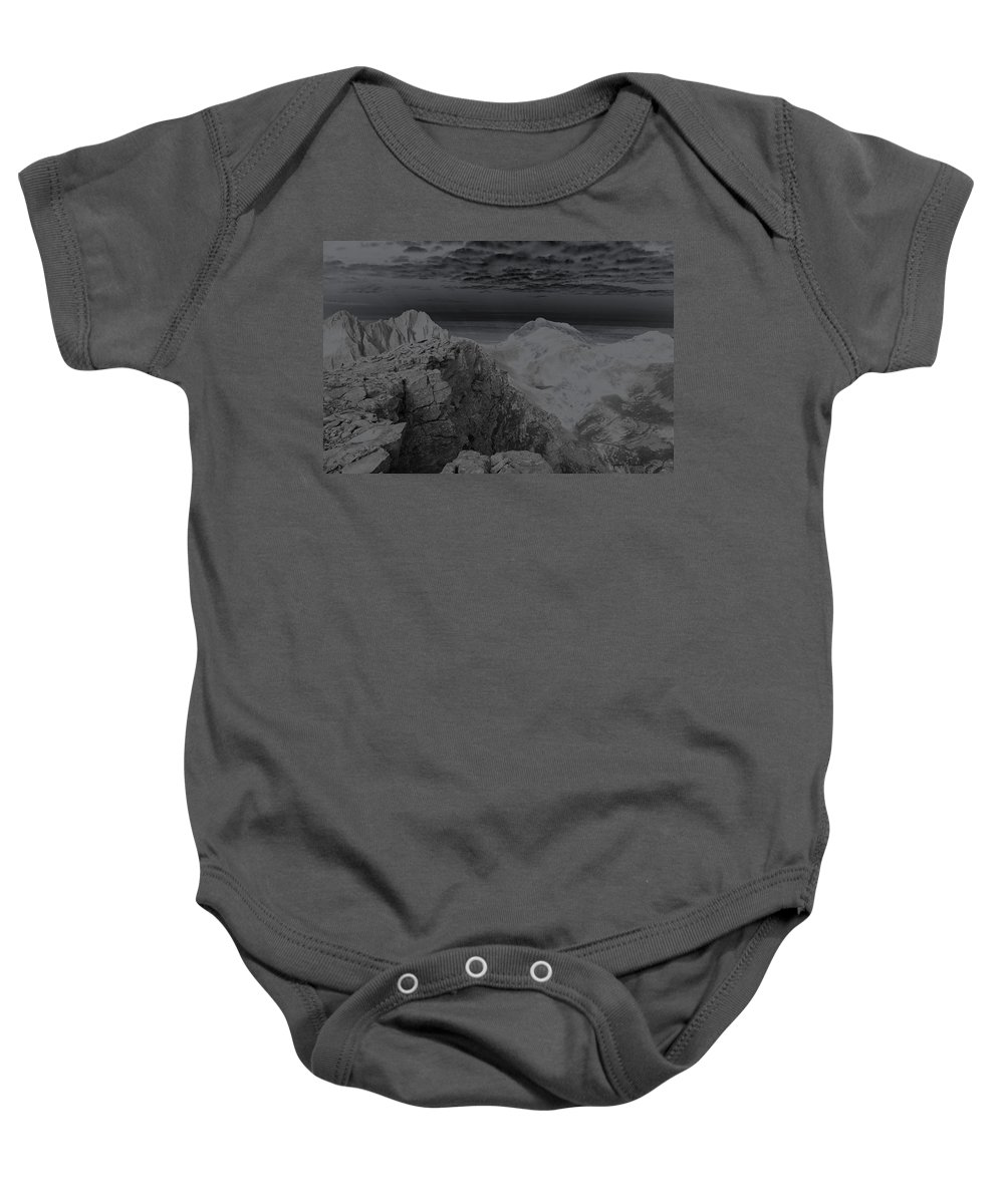 Landscapes Baby Onesie featuring the photograph Dark Planet by Jeremy Rhoades