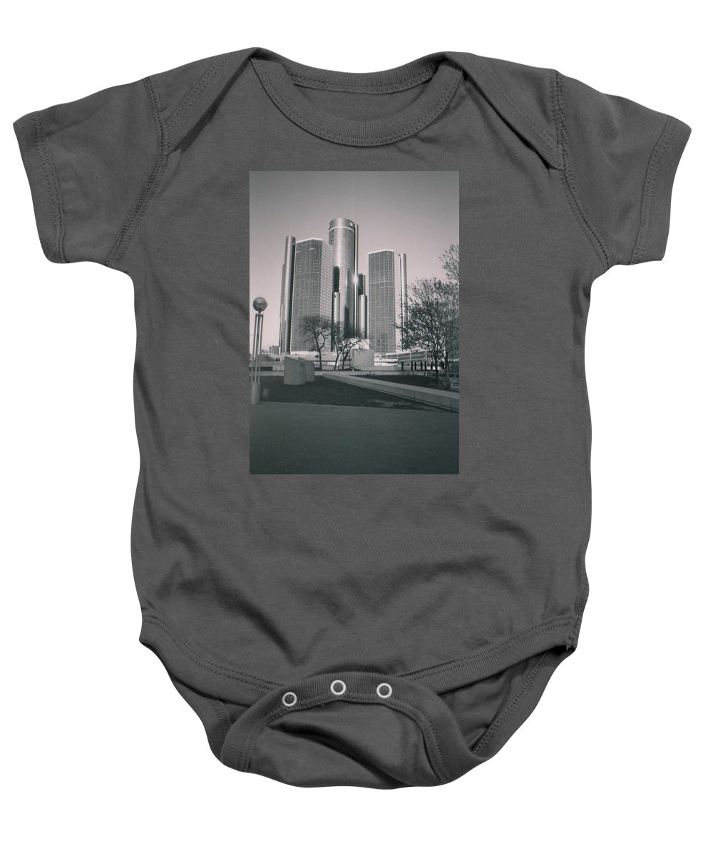 Hart Plaza Baby Onesie featuring the photograph Detroit2 by Crystal Hubbard