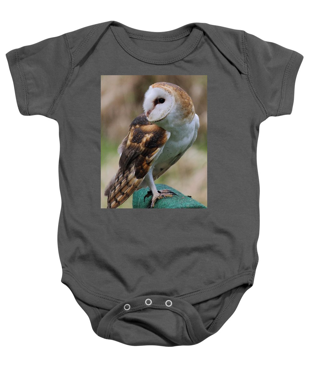 Owl Baby Onesie featuring the photograph Did Someone Call Me by Randy Hall