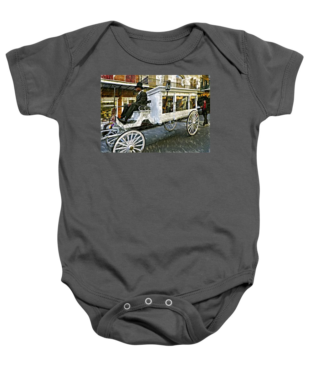 French Quarter Baby Onesie featuring the photograph Dignified Departure Paint by Steve Harrington