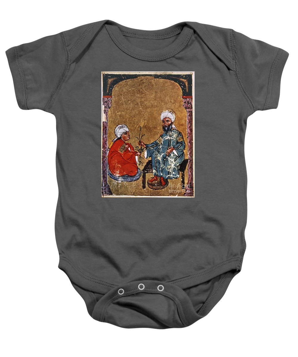 1229 Baby Onesie featuring the photograph Dioscorides And Student by Granger