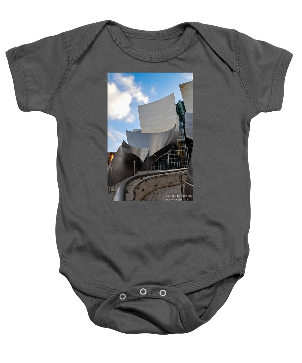 California Baby Onesie featuring the photograph Disney Hall by Gandz Photography