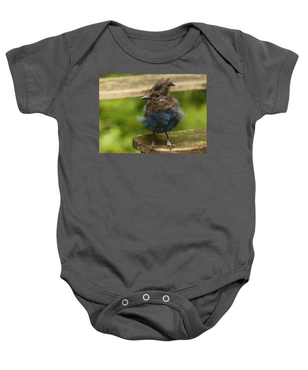 Animals Baby Onesie featuring the photograph Do You Like My New Dress? by Kym Backland