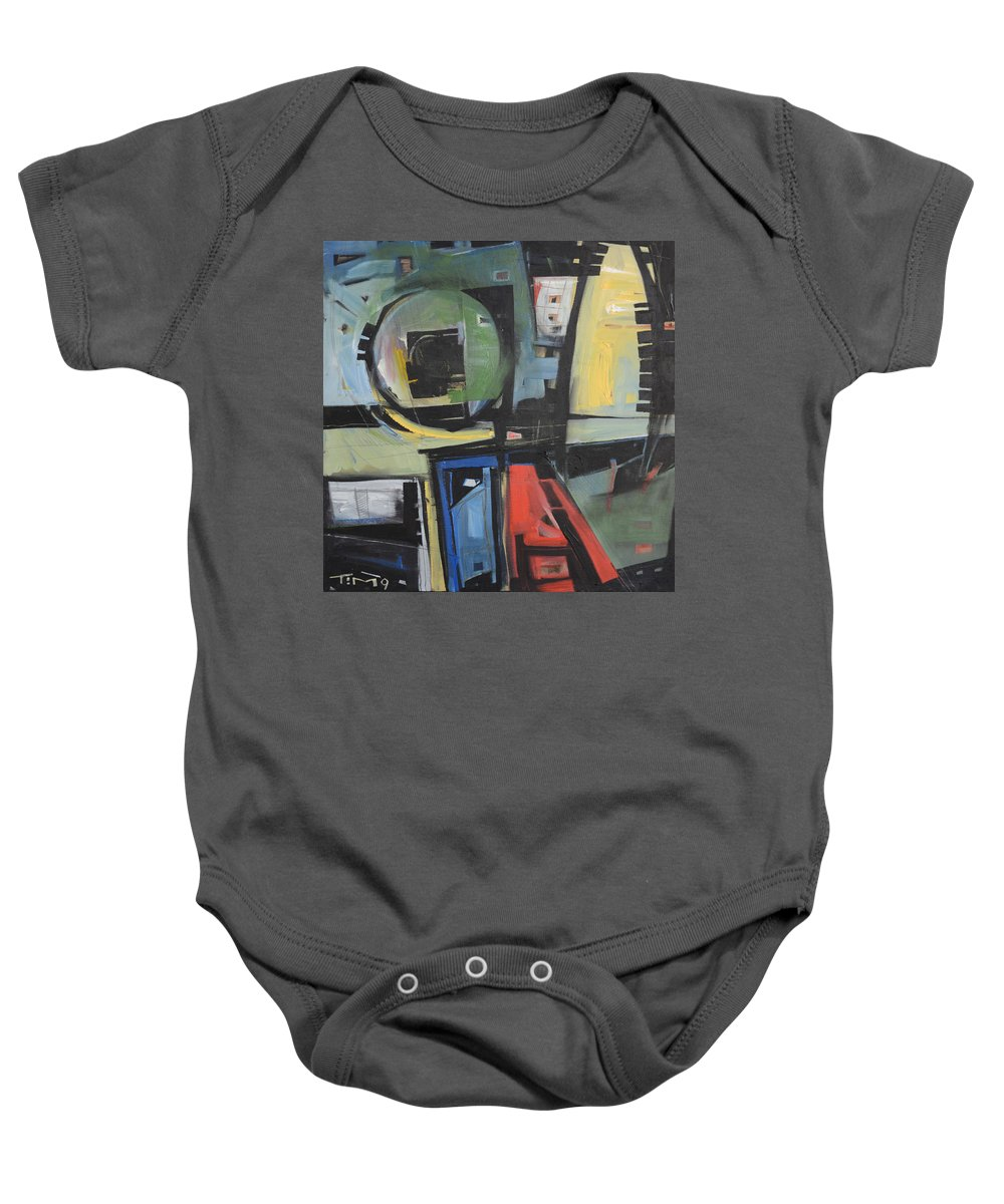 Abstract Baby Onesie featuring the painting Dockside by Tim Nyberg