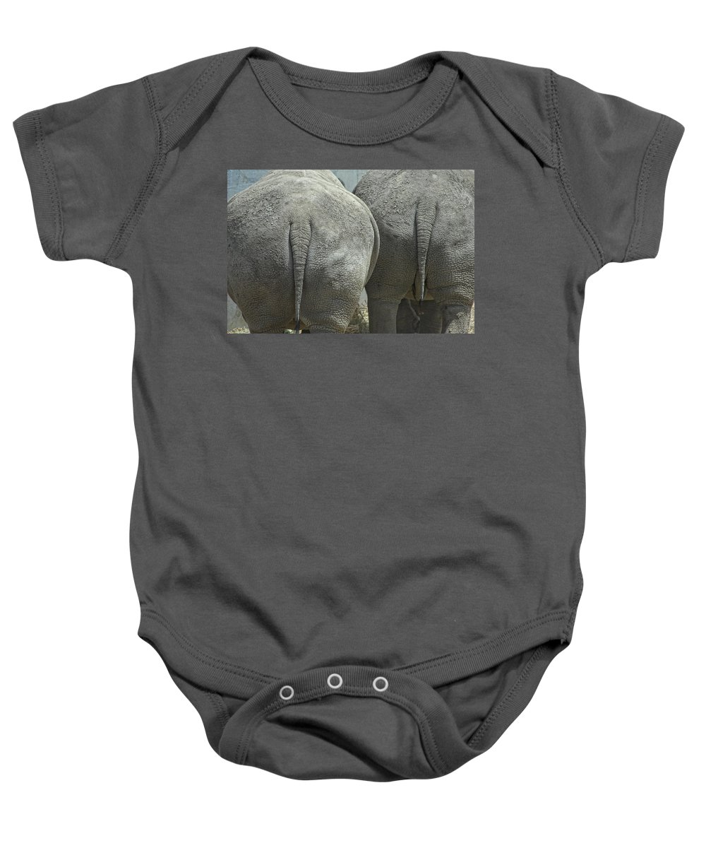 Animal Baby Onesie featuring the photograph Does My Butt Look Big by Donna Blackhall