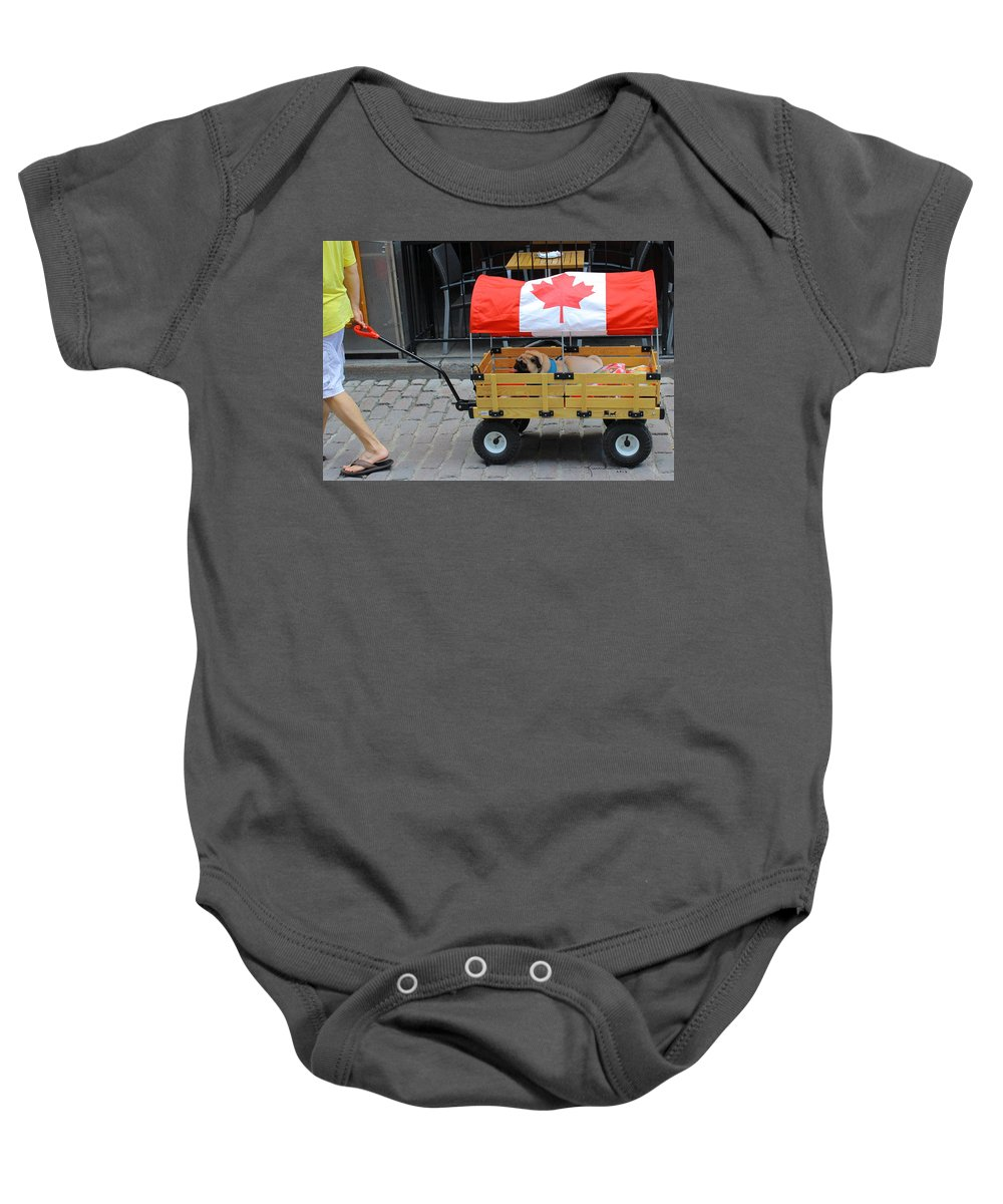 Dog Baby Onesie featuring the photograph Dog's Life In Canada by Kume Bryant