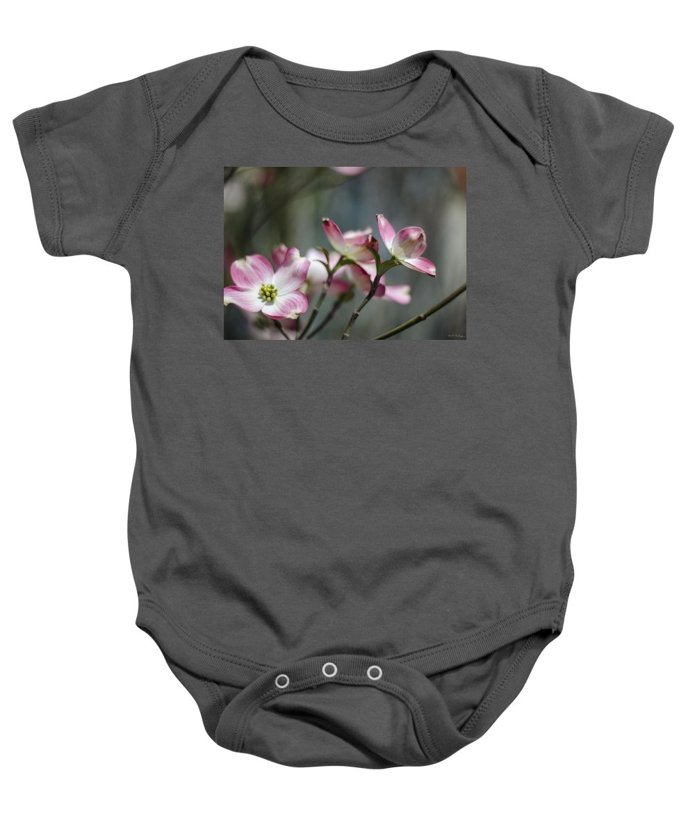 Dogwood Baby Onesie featuring the photograph Dogwood Blossoms by Heather Applegate