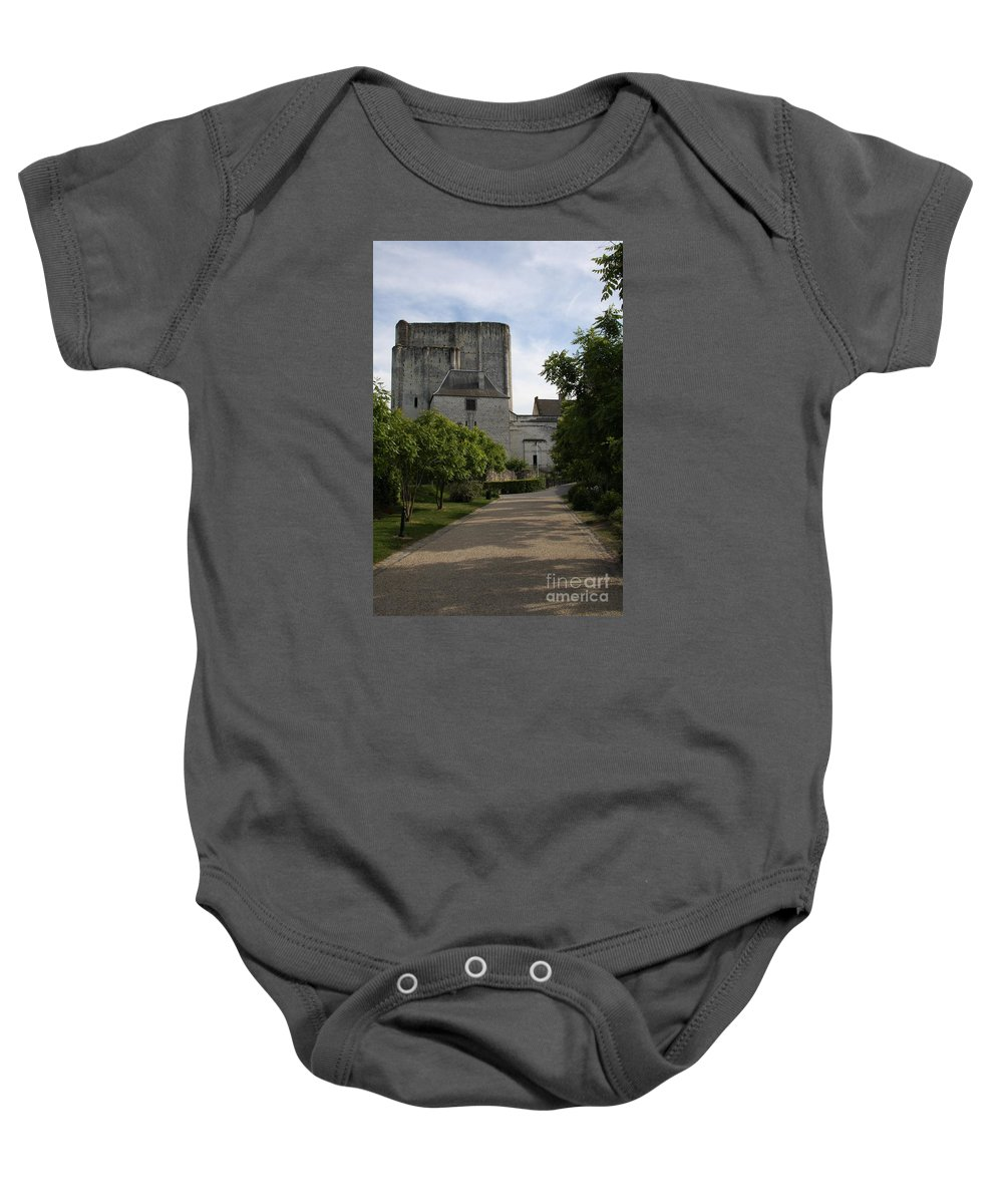 Donjon Baby Onesie featuring the photograph Donjon Loches - France by Christiane Schulze Art And Photography
