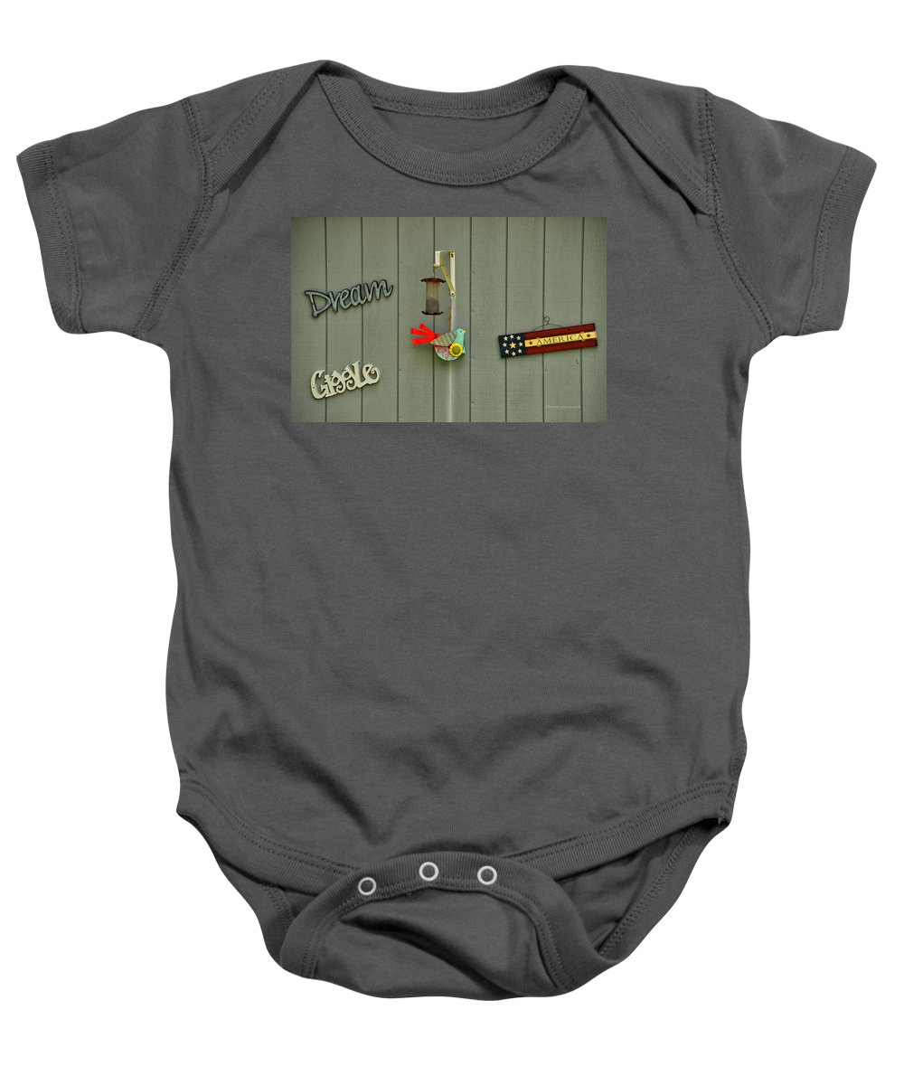 Donna Baby Onesie featuring the photograph Donna's Message To America by Thomas Woolworth