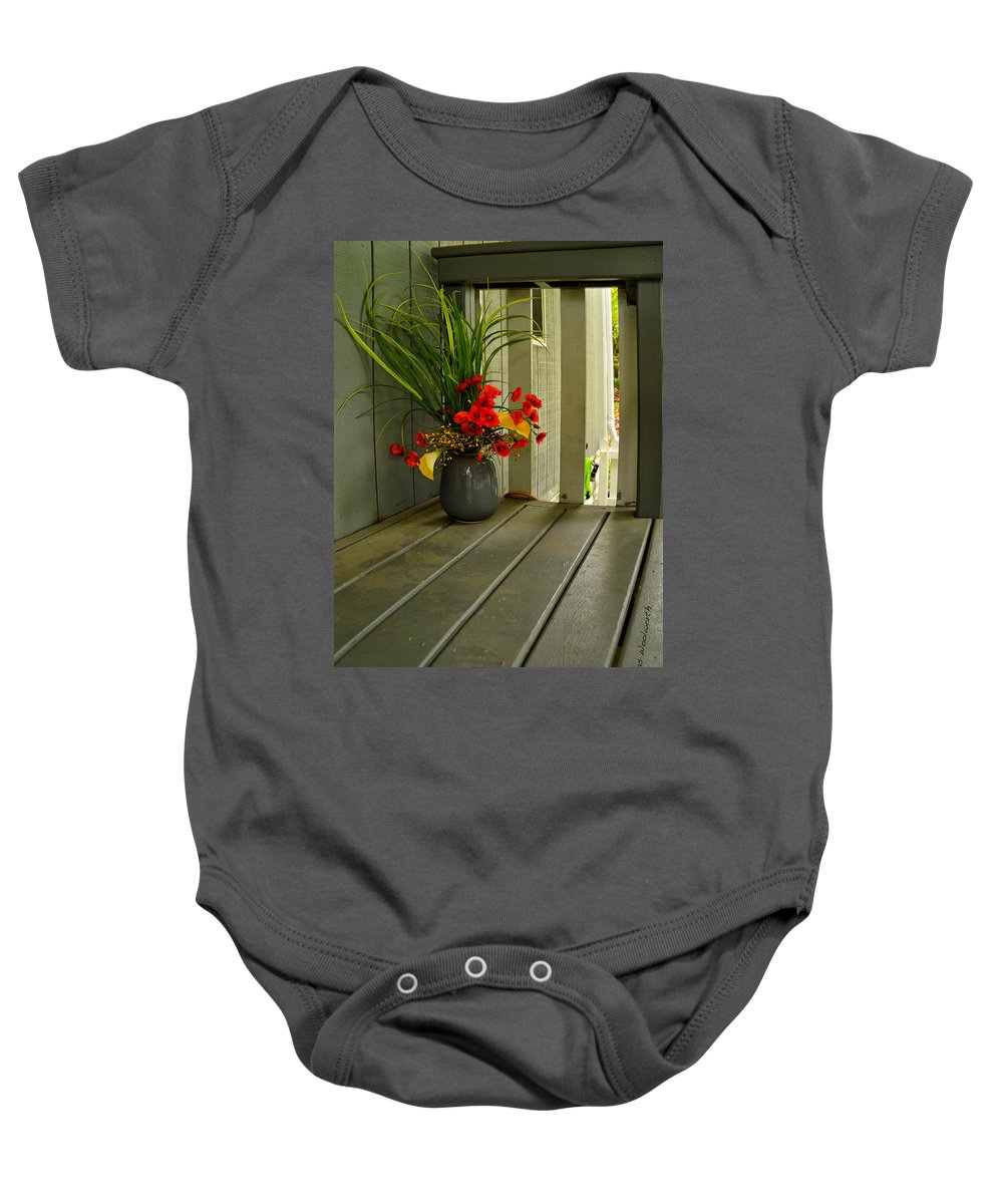Donna Baby Onesie featuring the photograph Donna's Still Life by Thomas Woolworth