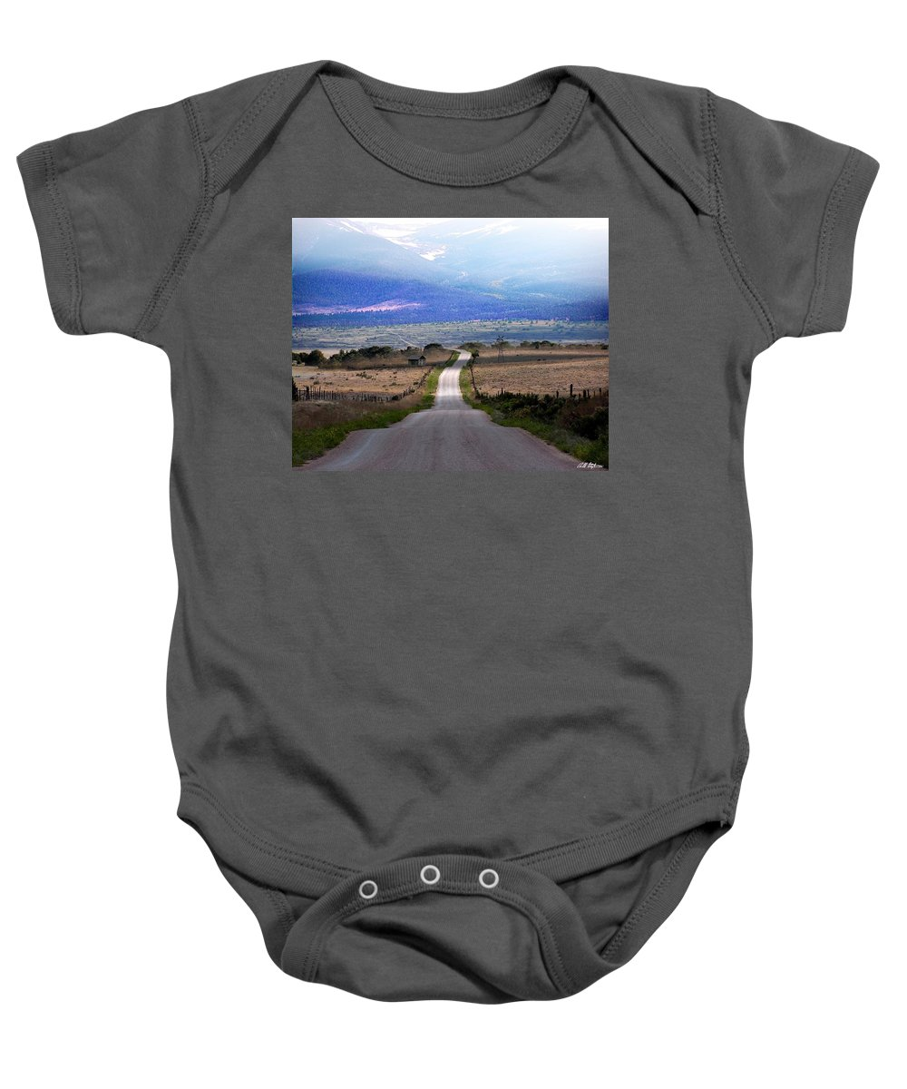 Roads Baby Onesie featuring the photograph Down The Road by Bill Stephens