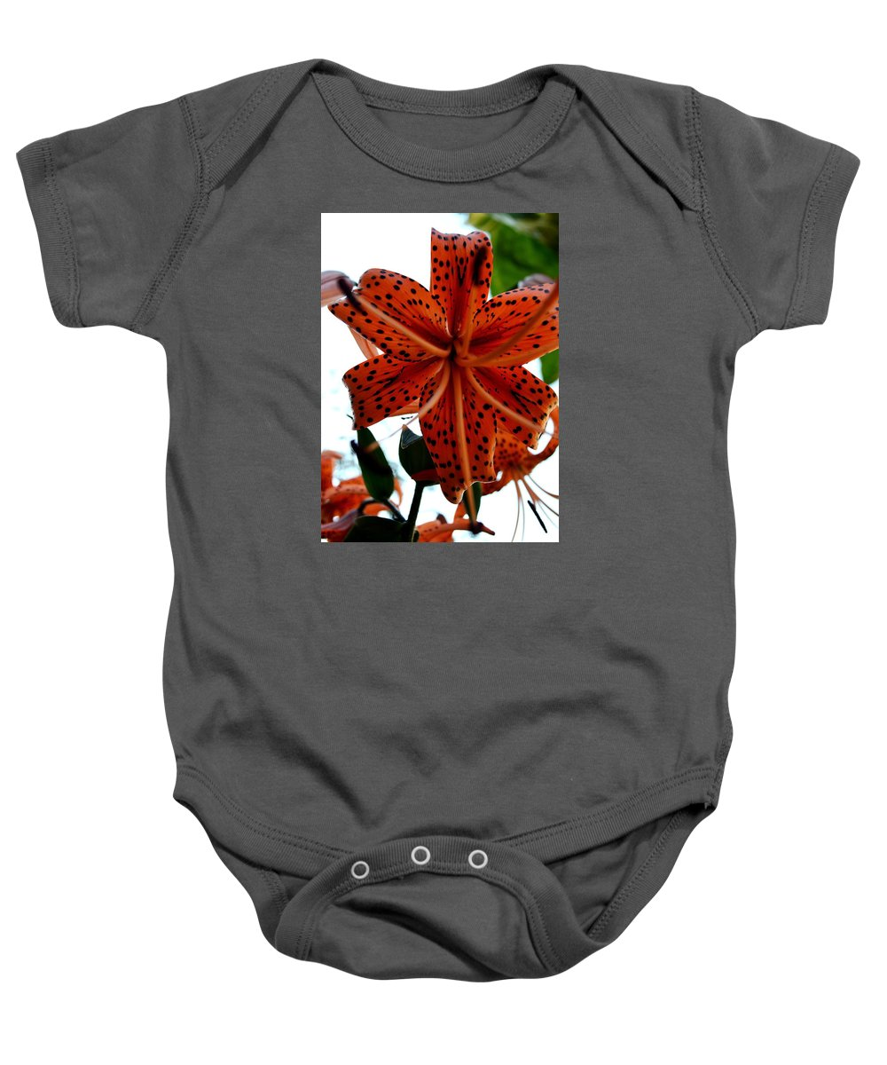 Dragon Baby Onesie featuring the photograph Dragon Flower by Gregory Merlin Brown