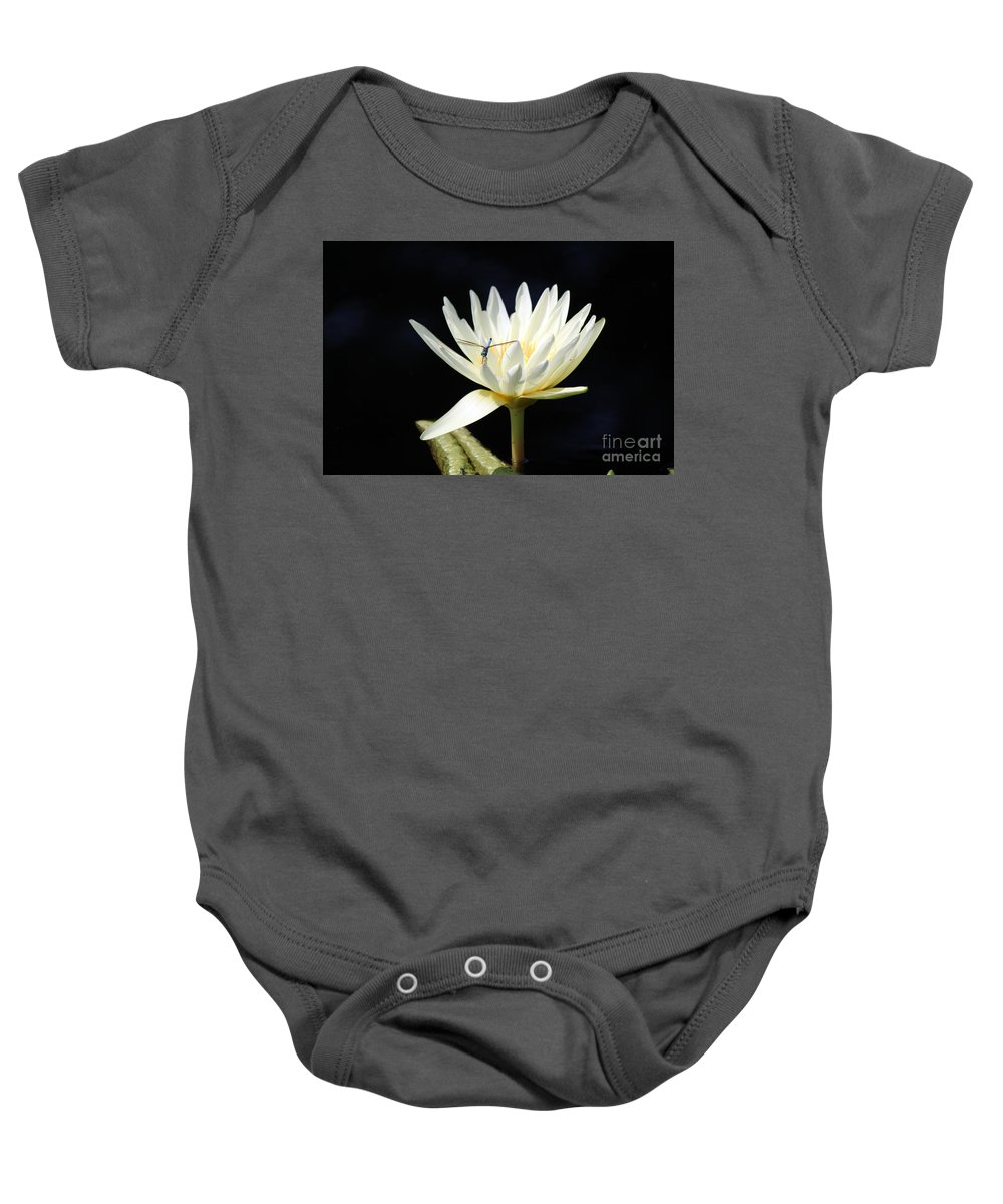 Dragonfly Baby Onesie featuring the photograph Dragon Lily by Jamie Smith