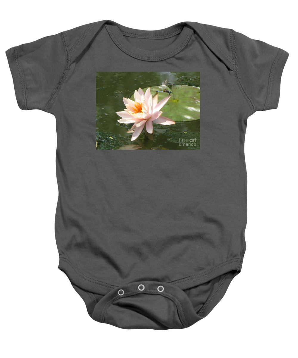 Dragon Fly Baby Onesie featuring the photograph Dragonfly Landing by Amanda Barcon
