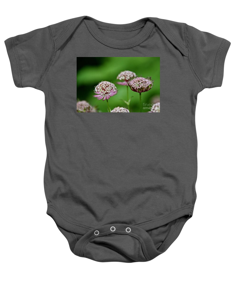 Flower Baby Onesie featuring the photograph Dreamscape by Susan Herber