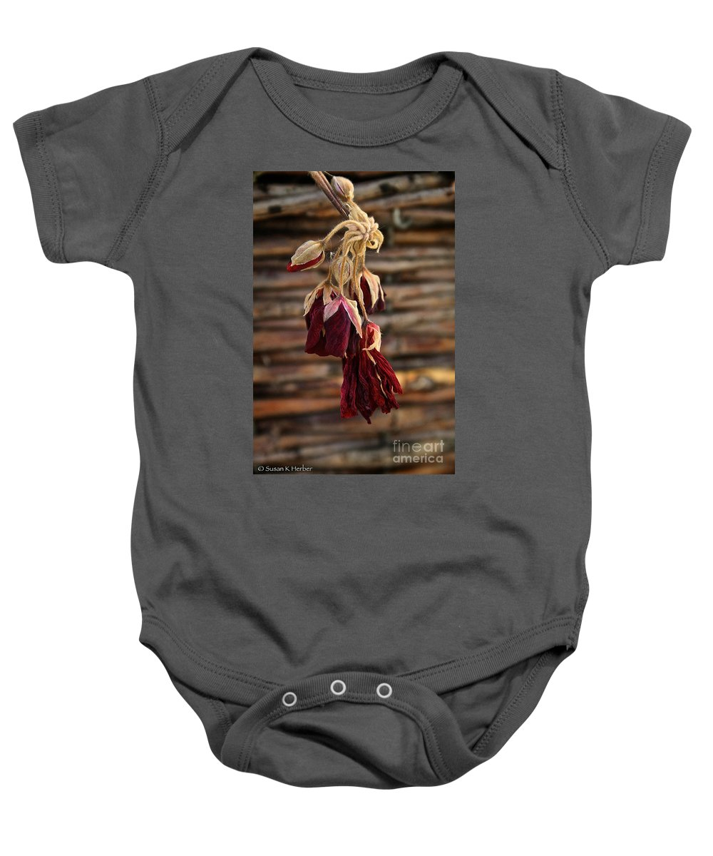 Flower Baby Onesie featuring the photograph Dried Floral by Susan Herber
