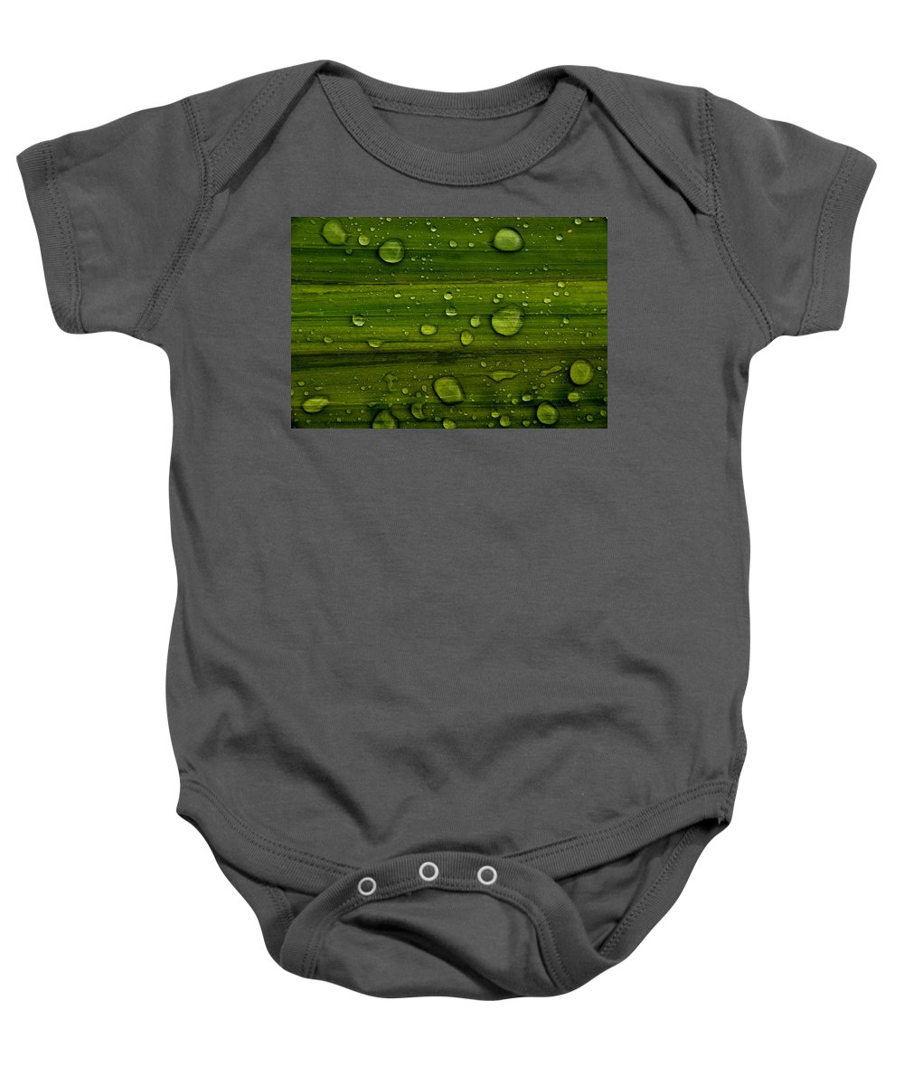 Backdrop Baby Onesie featuring the photograph Droplets by TouTouke A Y