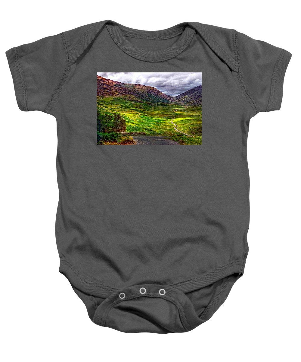 Duddon Valley Baby Onesie featuring the photograph Duddon Valley by Steve Harrington
