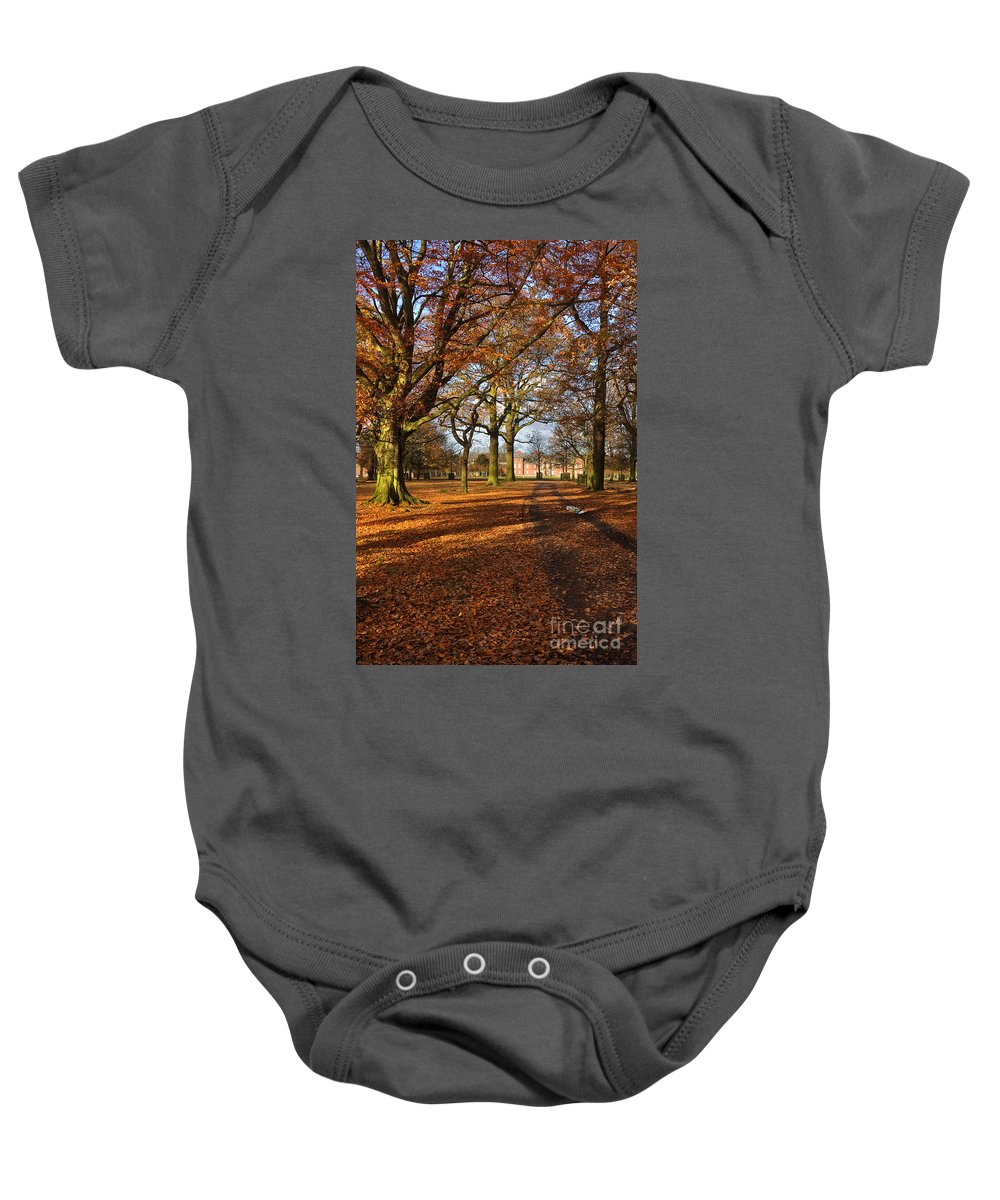 Travel Baby Onesie featuring the photograph Dunham Massey by Louise Heusinkveld