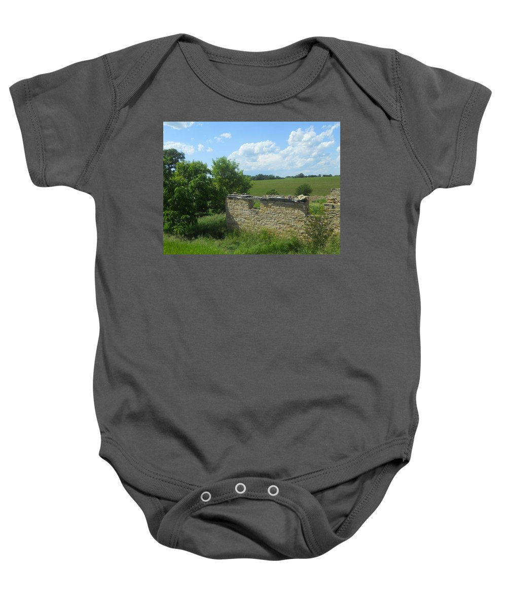 Landscape Baby Onesie featuring the photograph Earlier Times by Coleen Harty