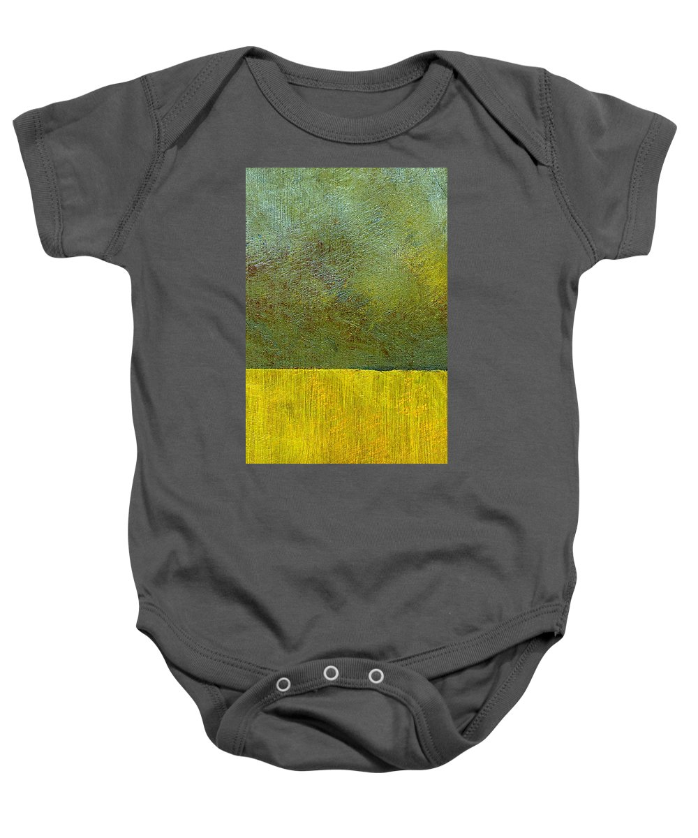 Abstract Landscape Baby Onesie featuring the painting Earth Study Two by Michelle Calkins